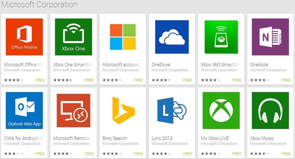Рис.2 – список сервисов Microsoft