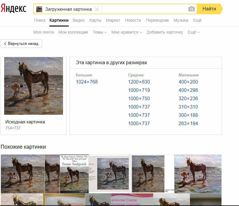 Рис.14 – Результат выдачи Yandex
