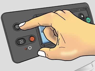 Рис.8 – Пример расположения кнопки «Питание»
