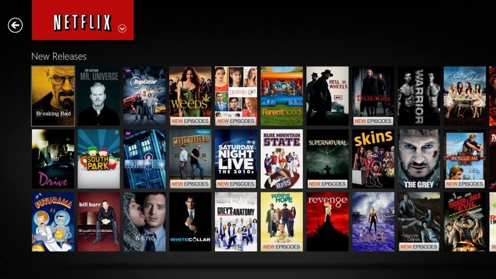 Рис.13 – Меню Netflix