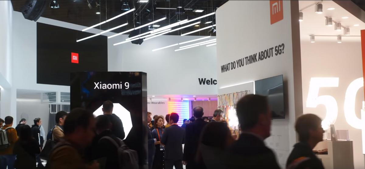 Рис. 1. Стенд Сяоми на выставке MWC 2019 в Берлине