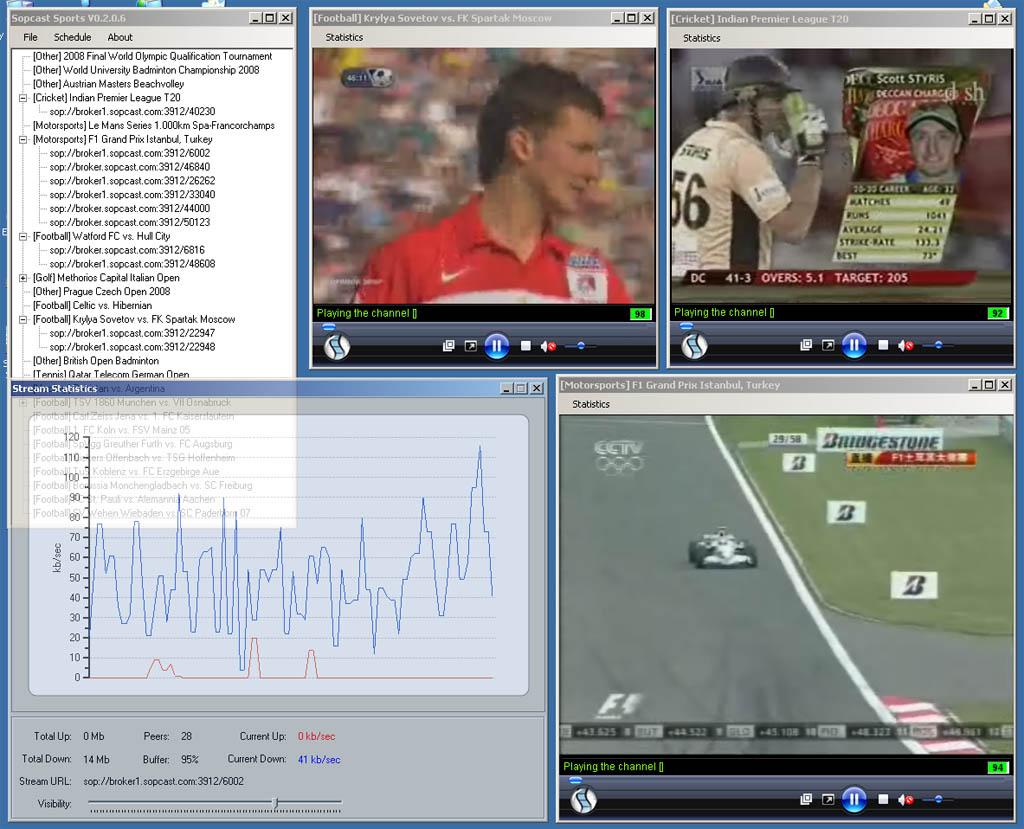 SopCast — топовый сервис для просмотра футбольных матчей онлайн бесплатно [+Настройка]